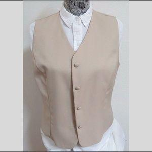 Sz 12 Tan Danny & Nicole WOMENS #87R Suit Vest
